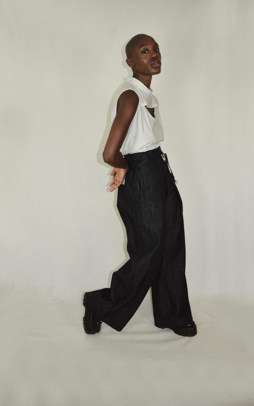 Jeans à pli séparable